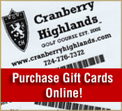 Online gift card purchase at Cranberry Highlands Golf Course